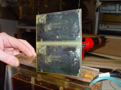 Etching the circuit boards